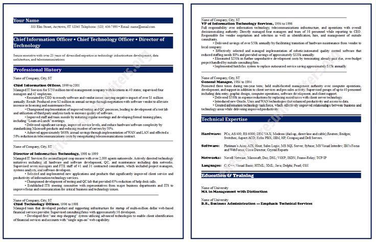 #CIO #Resume #Format2014 http://www.executiveresumewriters.org/cio-resume-sample/