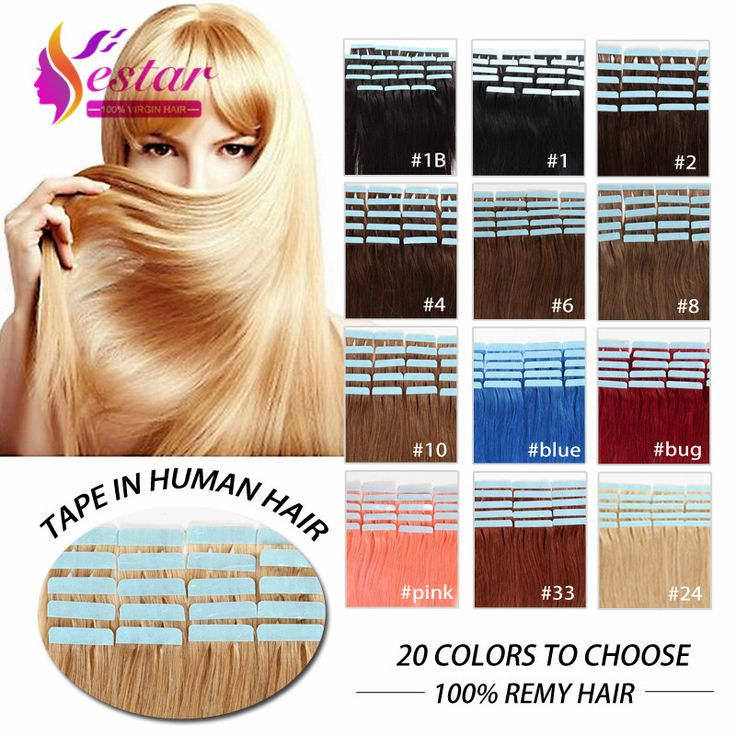 "16""18""20""22""24"" 100% Natural Hair, Remy Tape Hair, Tape Hair Extension 20pcs/set 20 Colors Optional Tape In Human Hair *** You can get additional details at the image link."
