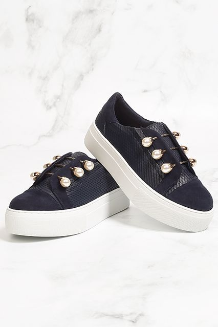 Kurt Geiger Trainers - Spring Summer Trainers - Blue Trainers with pearl