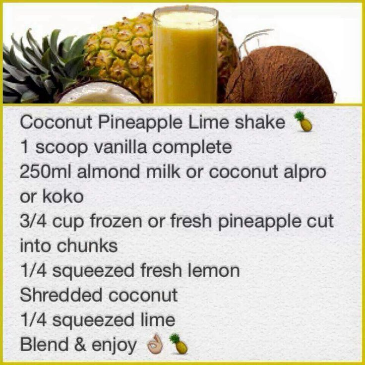 Coconut pineapple lime
