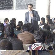 Mr. Kaushlendra Jha interacting with the students of Sankat mochan  Senior Secondary School of class 10, 11 and 12 under  the  program of Youth Empowerment.