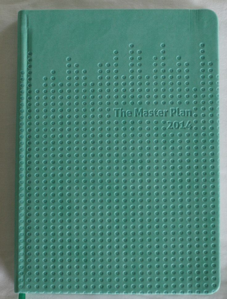 Design for Milestone Press - The Master Plan Diary (2014) - Family Organiser, set of 6 colours | Piece x Peace