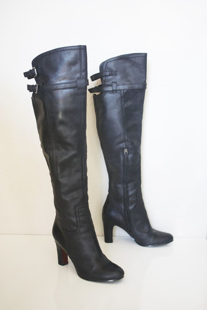 ef1855428a71c3 SAM EDELMAN SUTTON OVER THE KNEE BOOTS 9  300 Black Genuine Leather OTK  Shoes  SamEdelman  OverTheKnee  Any