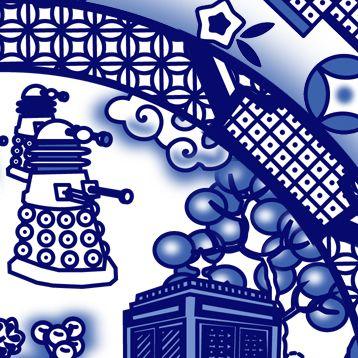 Okay - now I've seen it all. TARDIS willow pattern...