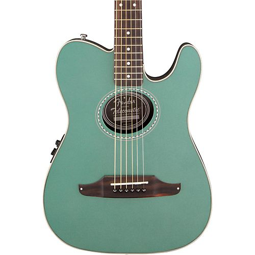 Fender Telecoustic Plus Acoustic-Electric Guitar Sherwood Green