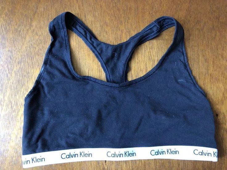 Black Calvin Klein Sports Bra Bralette Medium M fashion