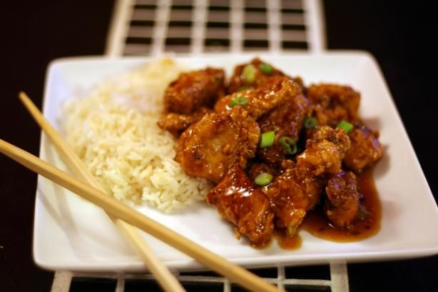 Panda Express Orange Chicken from Food.com:   								A copycat recipe from Panda Express. This chicken is tangy and flavorful. Give it a try! I'm sure you and your family will enjoy it.