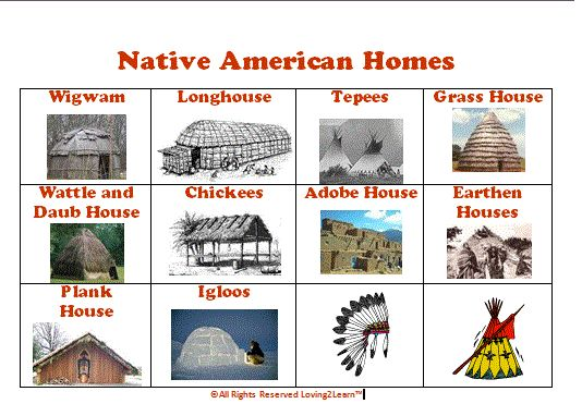 Free Native American Homes Printable Chart The Link To