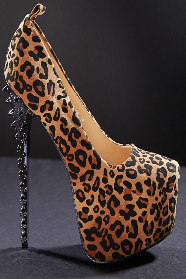 2015 Crystal Bottom Suede Thin High Heels  Leopard Pumps Women Party Platform Ladies Shoes Pointed Toe Autumn Zapatos Mujer