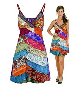 Fair Trade - Gifts - Layers Upon Layers Recycled Sari Dress (inspiration)