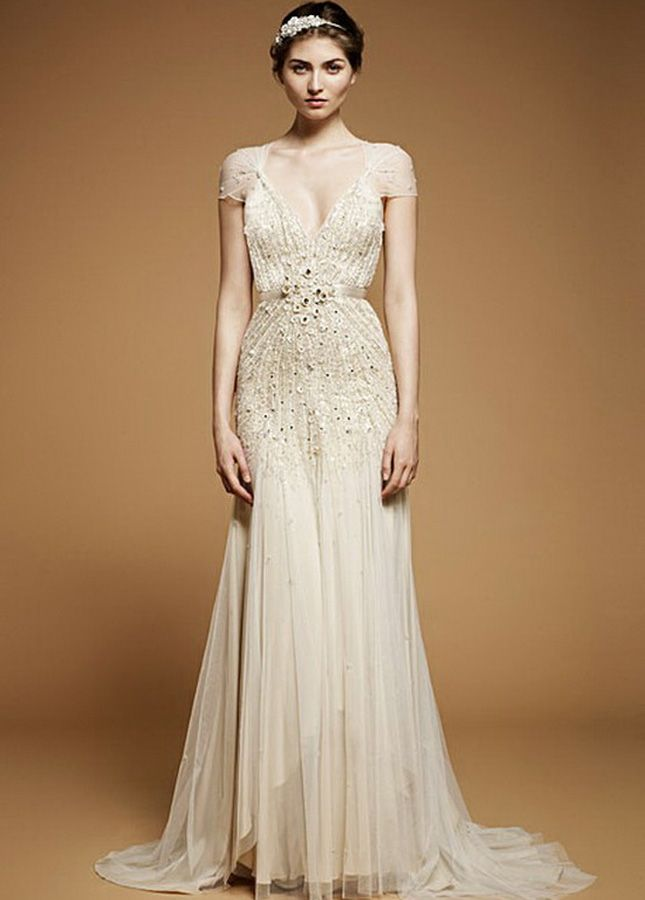 All That Jazz: '20s Inspired Wedding Dresses via Brit + Co