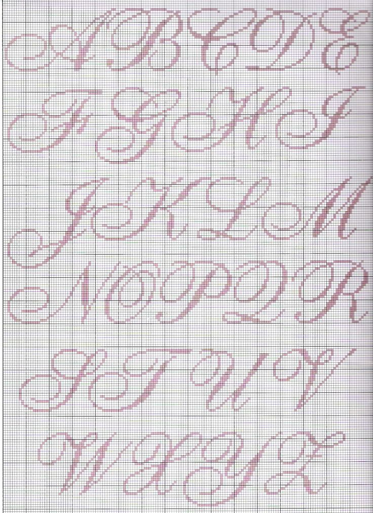 Gráfico+ponto+cruz+monograma+cursivo.jpg (1163×1600)