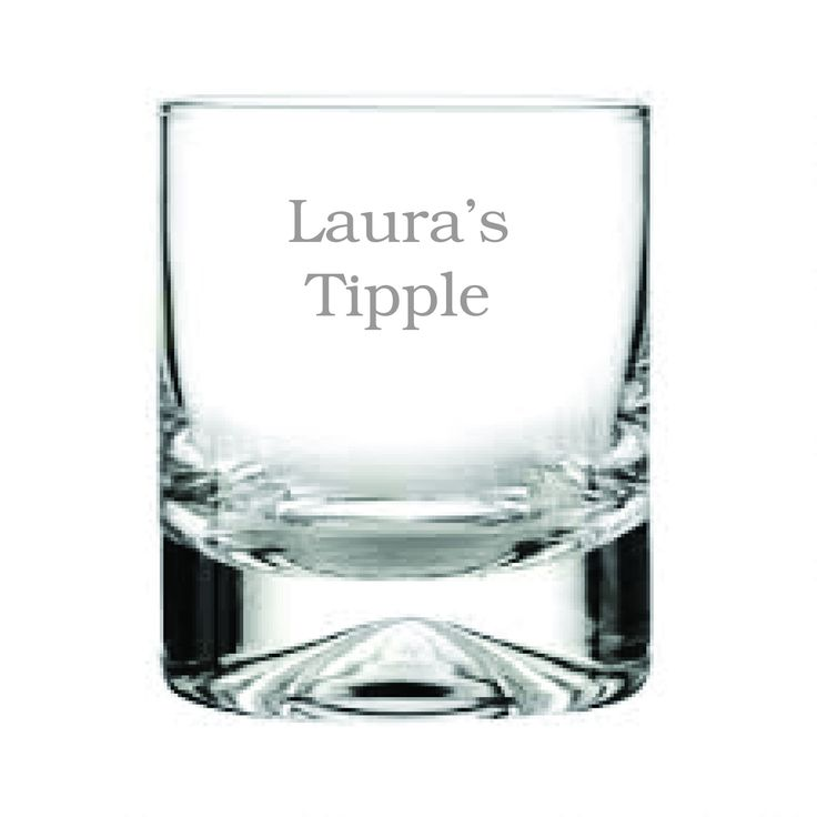 Personalised Tipple glass...never lose your drink again!