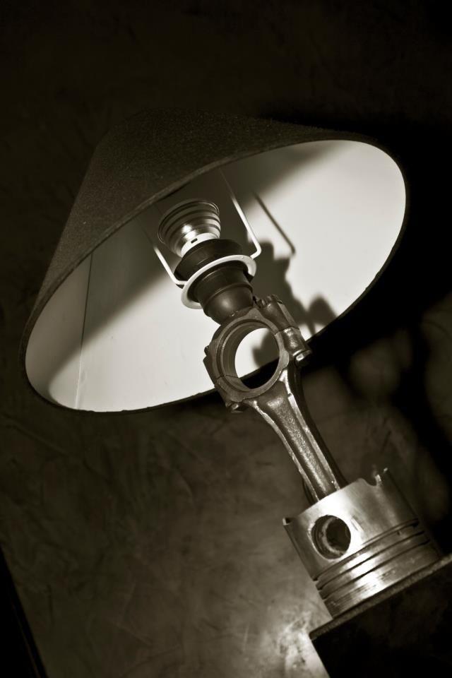 Part Of Art : Piston lamp automotive decor pinterest