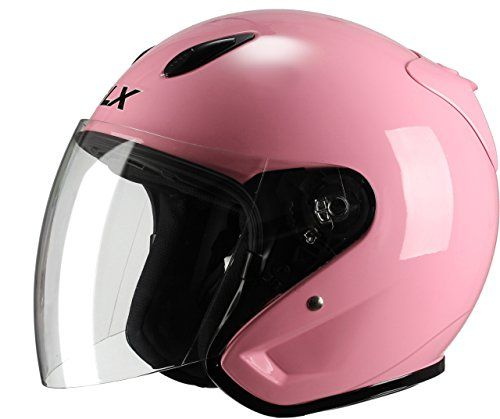 velomoteur rose | GLX Moped Scooter Cruiser Open Face Motorcycle Helmet (Gloss Pink ...
