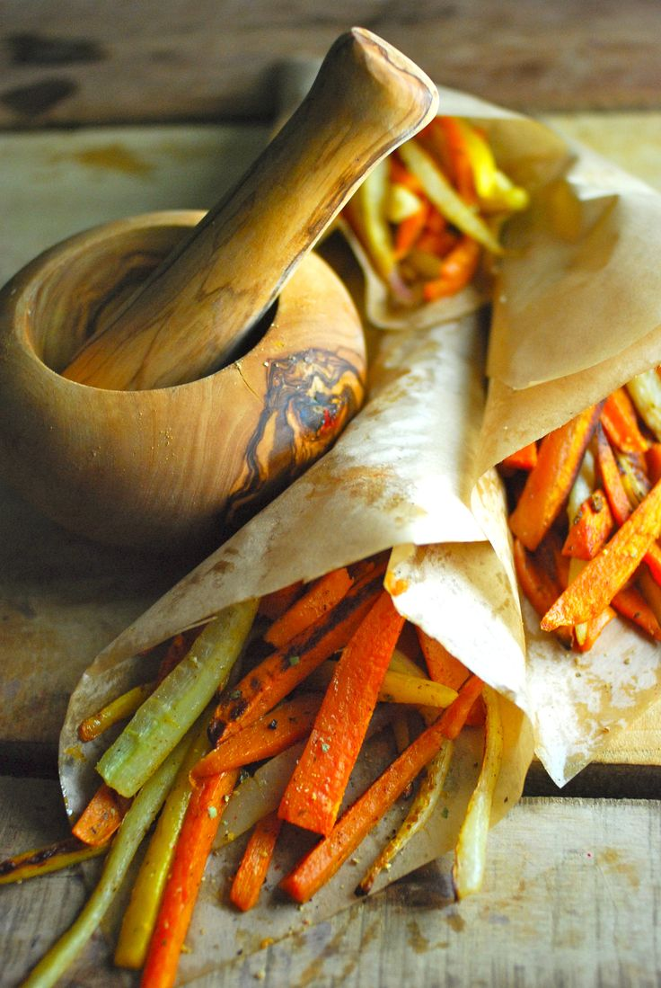 Moroccan carrot and sweet potato fries