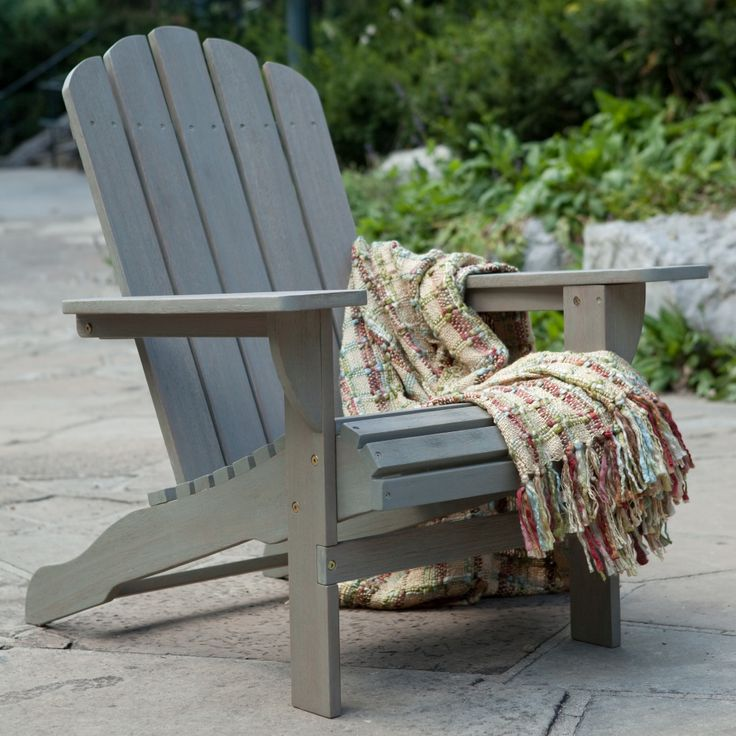 Belham Living Shoreline Wooden Adirondack Chair   Driftwood   Adirondack  Chairs At Hayneedle