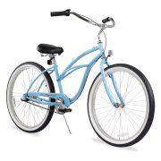"26"" Firmstrong Urban Lady Three Speed Women's Beach Cruiser Bike, Baby Blue Image 2 of 5"