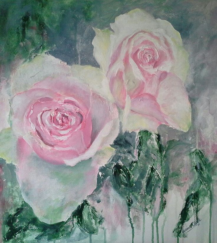 Passion roses Acrylic By Josee Clerk