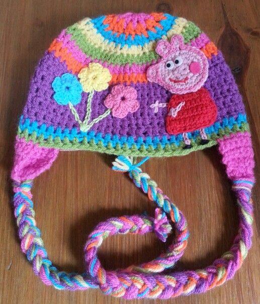 Gorro crochet pepa pigg | Gorros tejidos | Pinterest