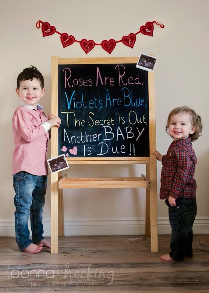 Our Valentines pregnancy announcement