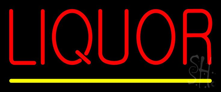 Red Liquor Yellow Line Neon Sign 10 Tall x 24 Wide x 3 Deep, is 100% Handcrafted with Real Glass Tube Neon Sign. !!! Made in USA !!!  Colors on the sign are Red and Yellow. Red Liquor Yellow Line Neon Sign is high impact, eye catching, real glass tube neon sign. This characteristic glow can attract customers like nothing else, virtually burning your identity into the minds of potential and future customers.