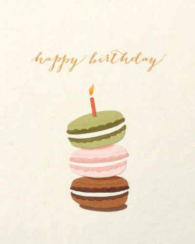Открытка макаруны с днем рождения, картинки анимация открытки
