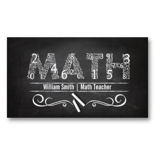 Math Teacher Business Card Zazzle Tutor Business Card