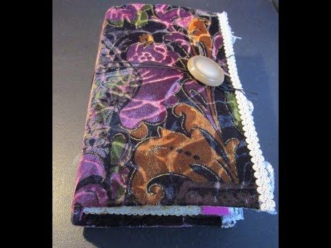 Handcrafted Interactive Velvet Fabric Journal with 4 Removable Inserts (...