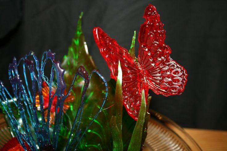 Blown Sugar Art Pieces | Butterflies in flight — Pulled Sugar / Blown Sugar