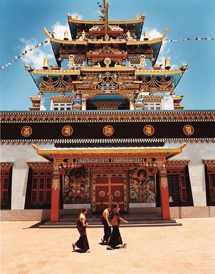 Bylakuppe, 140 miles southwest of Bangalore, is India's largest Tibetan settlement after Dharamsala, where the Dalai Lama lives