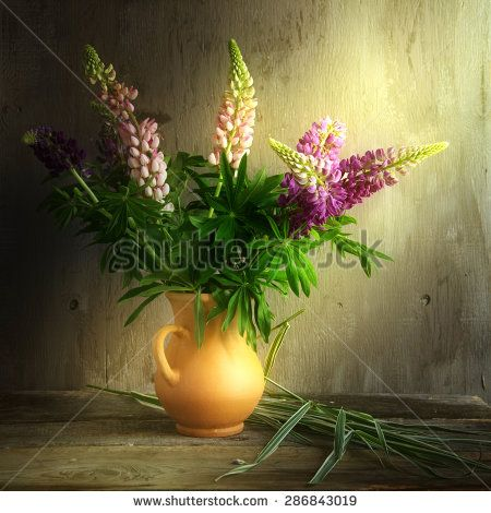 Bouquet of fresh field of wildflowers on a dark background - stock photo