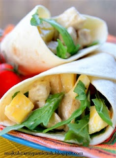 Bernika - mój kulinarny pamiętnik: Odjazdowe tortille z kurczakiem i mango