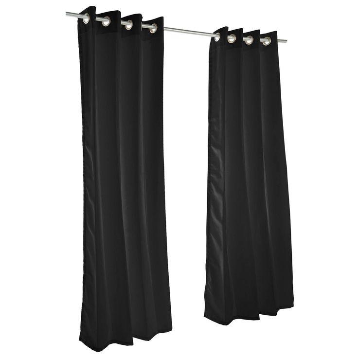Pawleys Island Sunbrella Curtain - Canvas Black (108 Inches) (Fabric, Solid), Outdoor Décor