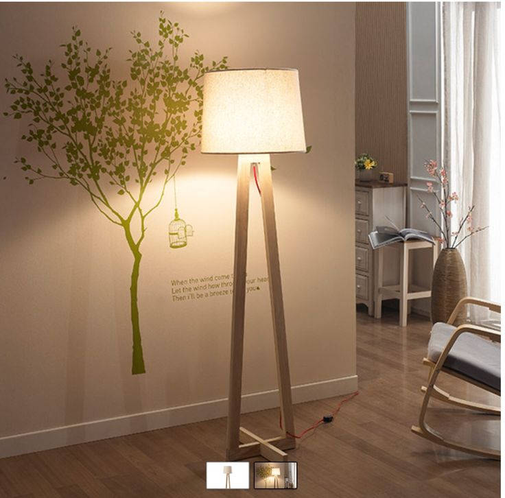 Lámpara pie LED madera (ledstudio) 36.990