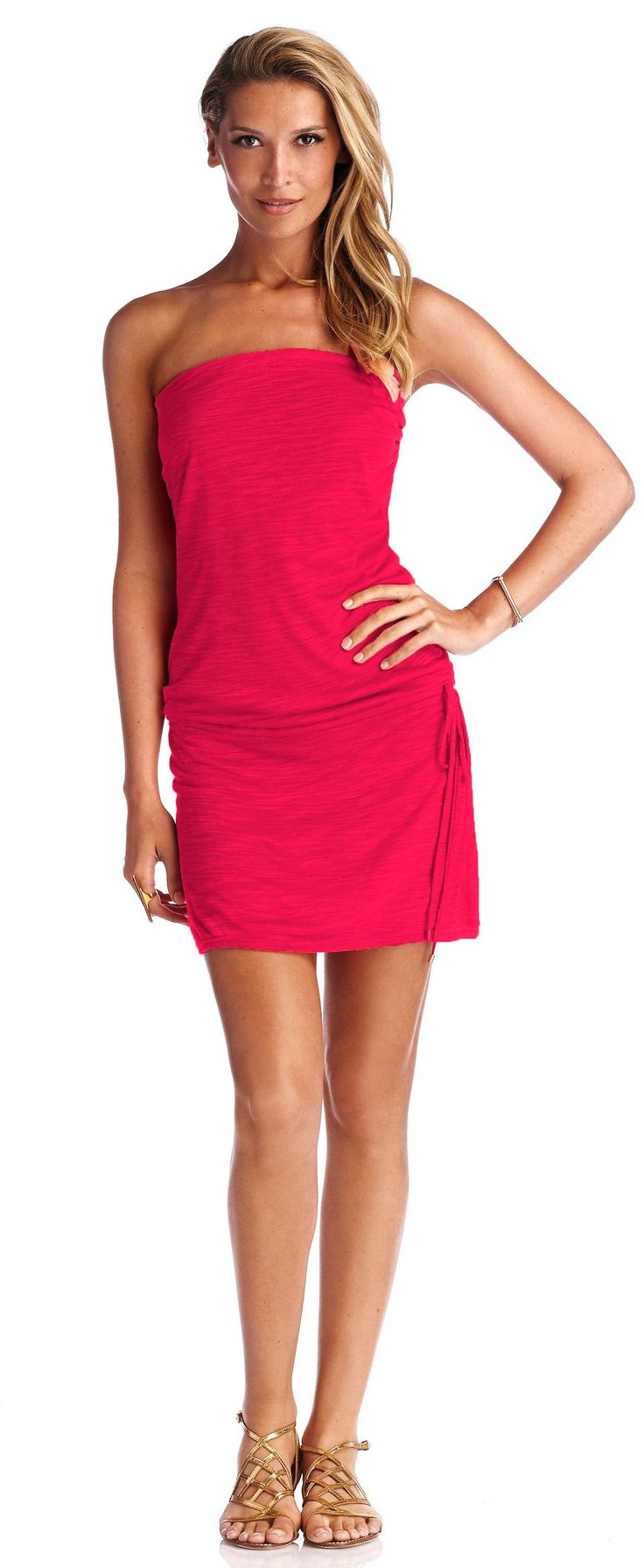Mila Strapless Mini Dress - Vitamin A Swim
