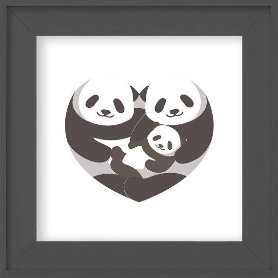 Panda nursery art Instant Download 10x10 Panda by LlamaCreation