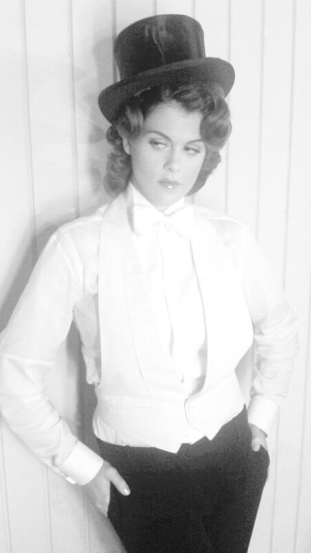 Lindsey Shaw looking uber-hot as Marlene Dietrich for the PLL Halloween episode
