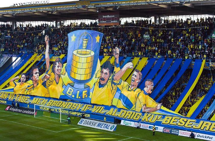 Best soccer Tifos from around the world: Brondby: Brondby IF fans.