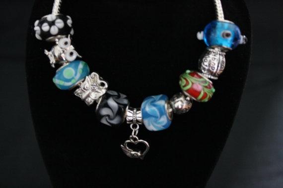 European Bead Charm Bracelet by CavettaCreations on Etsy, $20.00