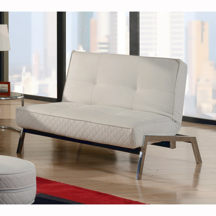 Abbyson Living Venice White Convertible Euro Chair Lounger | Overstock.com I am thinking sexy and light furniture to pop in a darker room like the basement.