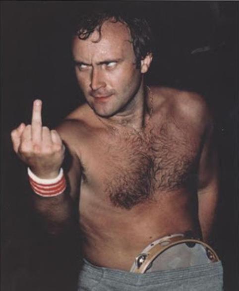 Вот вам, а не бубен. Музыкант Фил Коллинз. Великобритания. 1981г.