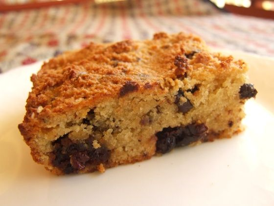 Grain-Free Almond Cake w/ Dark Chocolate & Cherries:  2 cups (240g) almond meal 1/2 tsp good quality salt (I used pink Murray River salt) 1/2 tsp baking powder 1/4 cup agave syrup 1/4 cup maple syrup 2 eggs 3 tsp (15ml) vanilla extract 1/3 c (50g) dried cherries (the sour-tart kind) 1/3 c (45g) high-quality dark chocolate, chopped