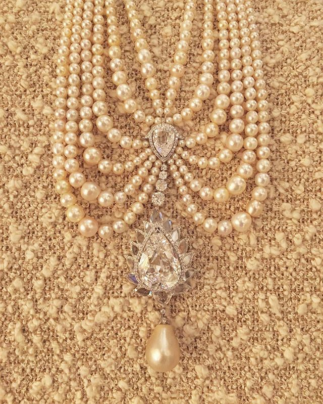 Part of our permanent collection, this natural pearl and diamond masterpiece by Bhagat #BhagatJewels #FDGallery #NOTforsale
