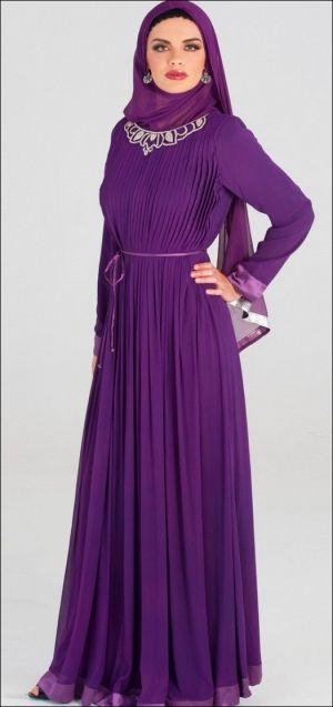 فستان من الشيفون البنفسجى