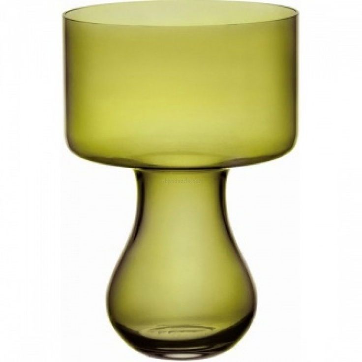 Ego Alter  Azalea Vase 33 Olive Green    Chic, edgy and yet so graceful; the Azalea Vase in Olive Green makes for a soothing sight each time you glance upon it.