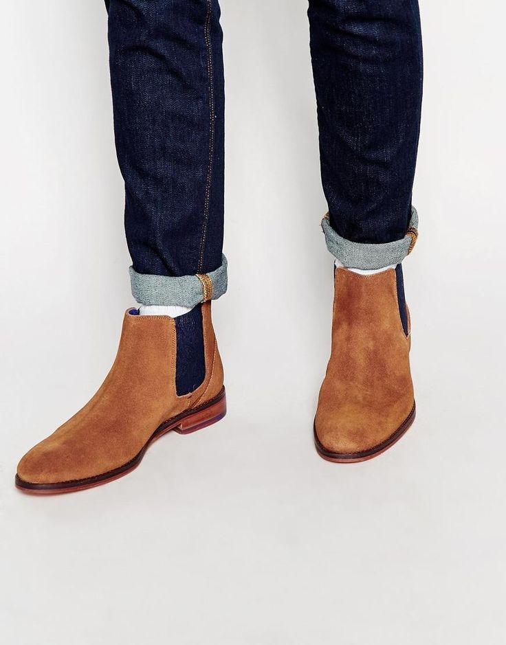Ted Baker   Ted Baker Camroon Suede Chelsea Boots at ASOS