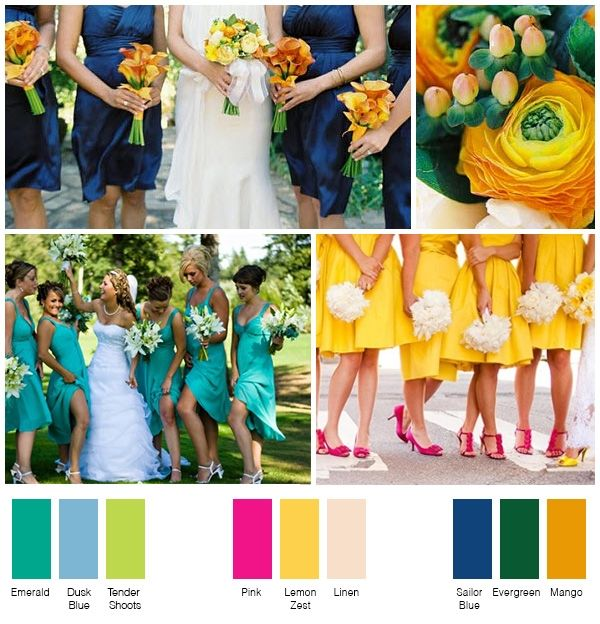 New summer wedding colors i 39 m in love with the emerald and for Summer wedding color combinations