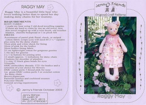 Free Bear Pattern With Clothes - Raggy May