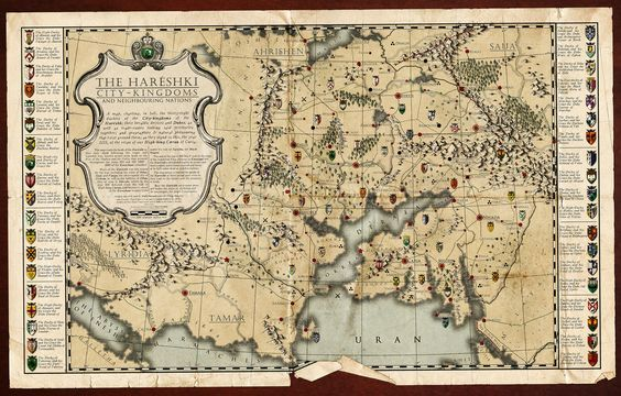 Gorgeous faux-historical fantasy map from the Cartographers' Guild.